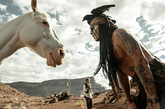 """THE LONE RANGER"" - Armie Hammer, Johnny Depp..Ph: Peter Mountain..?Disney Enterprises, Inc. and Jerry Bruckheimer Inc. All Rights Reserved."