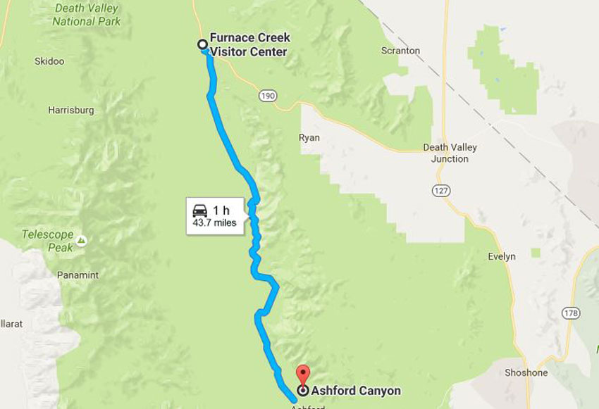 Wild West Challenge Hikes in Death Valley Hiking Ashford Canyon